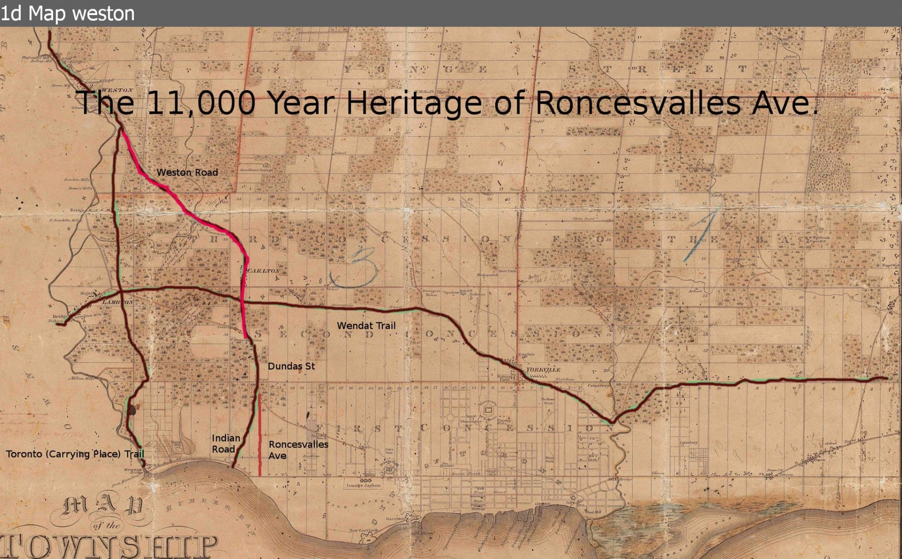 Sunnyside Historical Society Serving Parkdale Roncesvalles Weston Wiring Diagram 1d Map