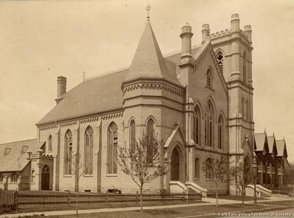 1880- Parkdale Presbyterian Church, Dunn Ave., w. side, s. of Queen St. W. Tor Pub Lib_tn