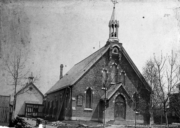 1881 or 8 St. Mark's Anglican Church, Cowan Ave., e. side, s. of Queen St. W. Tor Pub Lib_tn