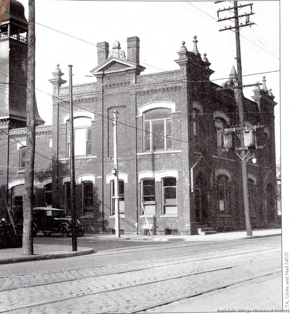 1887-1900 Parkdale's City Hall and Fire Station in Grand style.