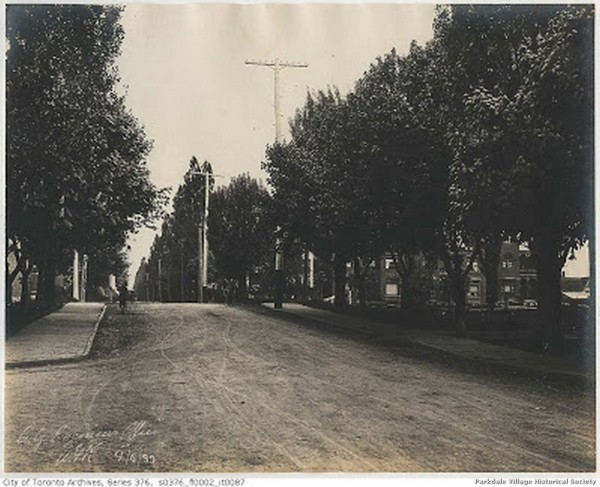 1889 Jun.4, 1899 - looking north-east along Dunn ave., standing on Dunn Ave. south of the Grand Trunk railroad tracks_tn