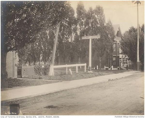 1904 Oct.6 1904 - looking s-ealong Dunn standing on Springhurst. n of the Grand Trunk railway The corner of Dunn Milkseen at the far left_tn