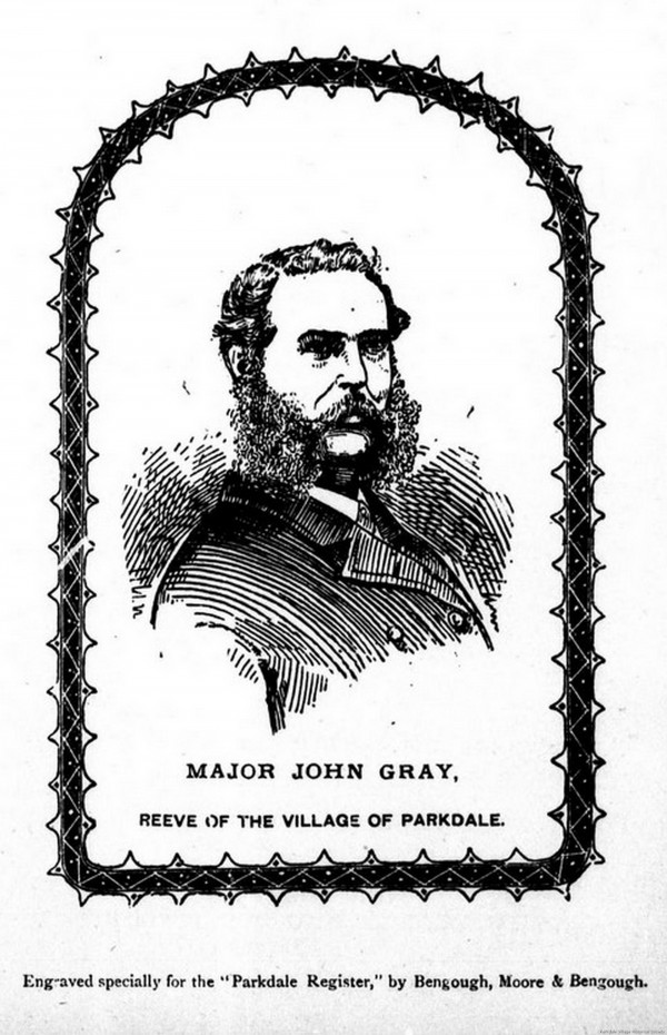 0 1885 Major John Grey, former first reeve of Parkdale, took 15 volunteers from Parkdale. A loyal soldier's natural response (1)