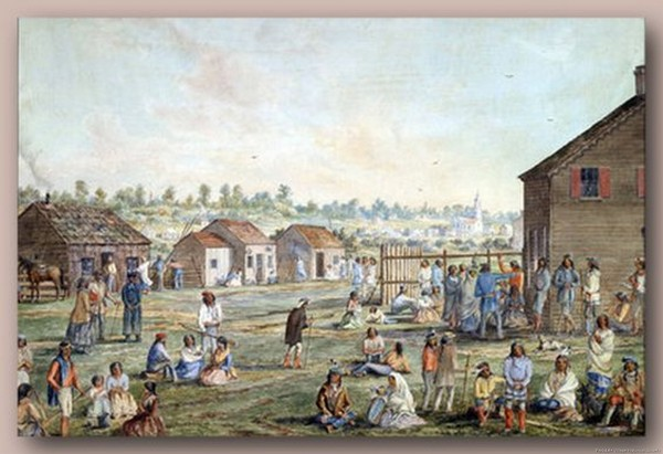 1870 A Metis settlement, Manitoba by William Wallace Armstrong.