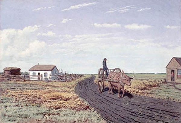 1870 agricultural terrain in Manitoba