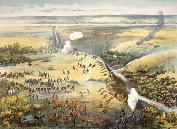 1885 Battle of Fish Creek 1885 150 Metis. Art by Fred Curzon