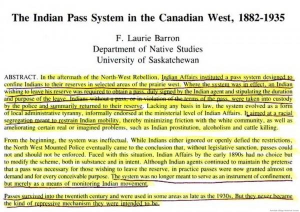 Pass System illegal 1882 -1935 similar to Apartheid