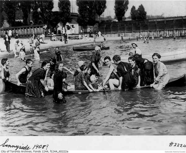 1908 Sink a Canoe game. Change stations 1.