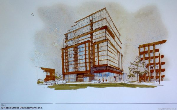 6 Noble St Proposal (1) 14 Stories of Glsass and Steel overshadowing Historic Queen St Village