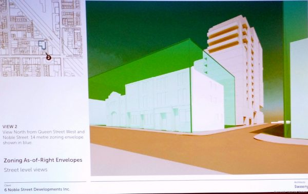 6 Noble St Proposal (12)Much of the proposed building would be very visable over the historic oldest town core.